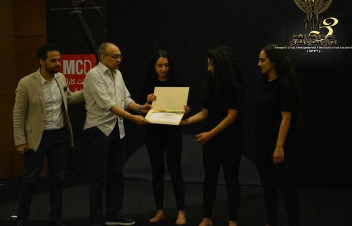 مسرح ديار يحصل على جائزة لجنة التحكيم لافضل فنانين صاعدين