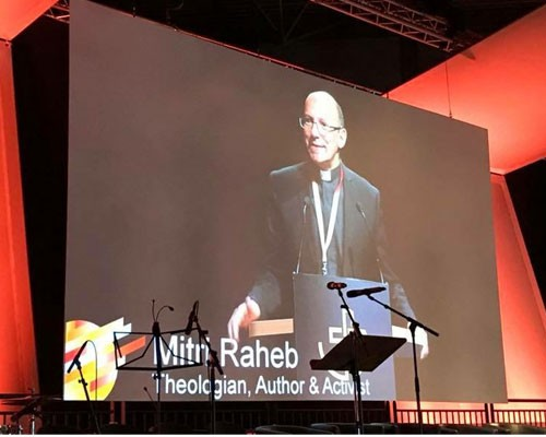 Dr. Mitri Raheb Provides Leadership at Historic Gathering (WCRC)