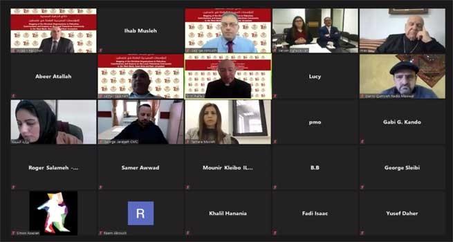 دار الكلمة الجامعية والبعثة البابوية تنظمان مؤتمر صحفي لإعلان نتائج الدراسة المسحية للمؤسسات المسيحية العاملة في فلسطين