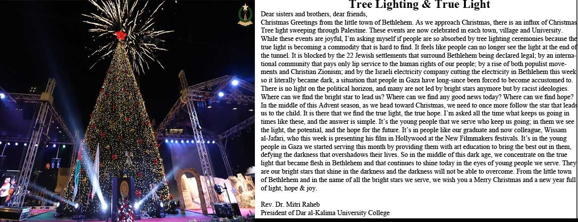 Tree Lighting & True Light